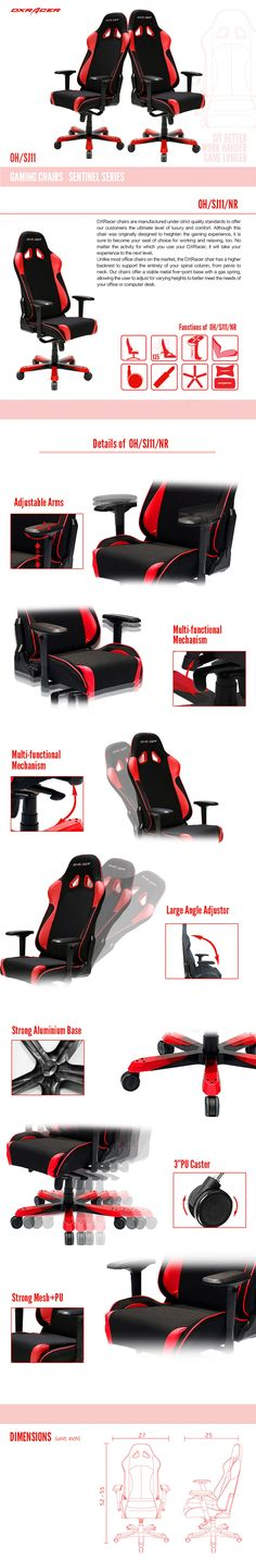 OH/SJ11/NR - Sentinel Series - Gaming Chairs | DXRacer Official Website - Best Gaming Chair and Desk in the World