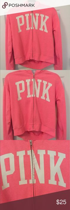 ‼️SALE‼️ PINK Victoria's Secret Hoodie PINK hoodie in great condition, only worn once. Small, virtually unnoticeable mark near the zipper. PINK Tops Sweatshirts & Hoodies