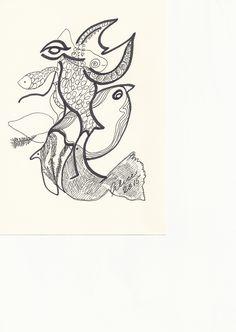 Tegning af Alice Faber, formand for Tegnerne - Tegnerforbundet af 1919 og medlem af TEIKN udstillingsgruppen