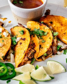 These instant pot or stovetop homemade birria beef tacos are the best thing ever. Easy, addictive, and authentic, you'll never go back to ground beef again. Homemade Tortilla Chips, Homemade Tortillas, Homemade Tacos, Mexican Food Recipes, Beef Recipes, Cooking Recipes, Ethnic Recipes, Cleaning Recipes, Cooking Tips