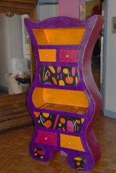 1000 images about meubles en carton cardboard furniture - Meuble rangement chambre enfant ...