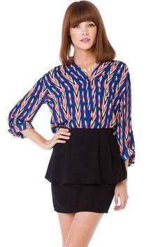 ShopSosie Style : Chevron Stripe Blouse