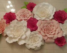 Telón de fondo / flor de papel / decoración de la pared