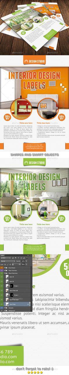 Interior Trifold Brochure Interiors, Brochures and Corporate - interior design brochure template