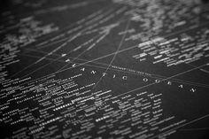 Los mapas tipográficos de Nancy McCabe | Experimenta