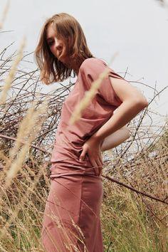 Asymmetrisches Kleid in Terrakotta, lässiges Outfit für den Herbst / fall fashion: asymmetrical dress midi length made by CADOaccessories via DaWanda.com