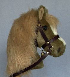 from Laurel Designs. Fine hobby horses since 1979 by AdorablePonies Horse Mane, Horse Head, Stick Horses, Wooden Wheel, Hobby Horse, Palomino, Doll Patterns, Real Leather, Kids Playing