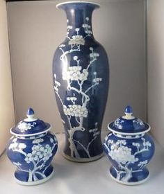 Blauwe Chinese gember potten