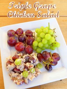 Cookin' Cowgirl: Low-Carb Chicken and Grape Salad (as usual for me -- NO MAYO sub with Greek Yogurt)