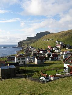 Sumba - A Village in Suduroy in the Faroe Islands - Føroyar Kingdom Of Denmark, City By The Sea, European Travel, European Destination, Island 2, Scandinavian Countries, Faroe Islands, Travel Goals, Amazing Destinations