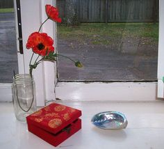 Reference Photos for Artists: Still Life: Still Life Reference Photo: Red Poppies and Cube
