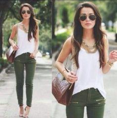 outfits with aviator sunglasses | bag aviator sunglasses khaki pants zip summer outfits jeans jewels ...