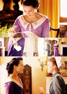 #DowntonAbbey Lady Cybil (Jessica Brown Findlay) and Gwen #Downton Abbey Season 1