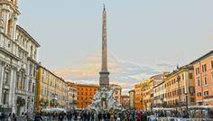 La Piazza Navona, centre névralgique de Rome - Italie
