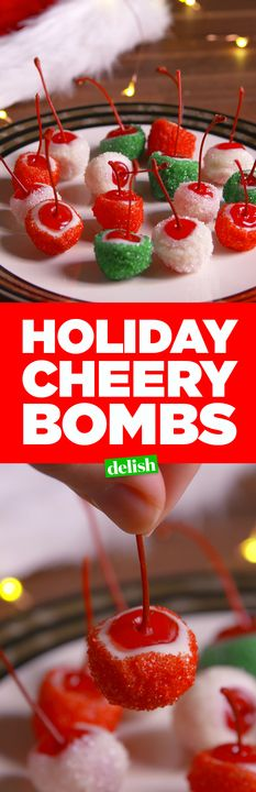 Your friends will flip over these Holiday Cheery Bombs. Get the recipe from Delish.com.