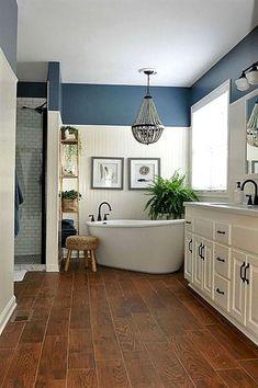 09 Farmhouse Rustic Master Bathroom Remodel Ideas  #bathroomremodeling
