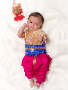 New born baby krishna costume. Baby Shower Photography, Newborn Baby Photography, Newborn Photographer, Quit Baby, Monthly Baby Photos, Baby Krishna, Boys Clothes Style, Baby Boy Pictures, Baby Poses