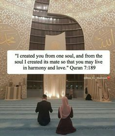 Soulmate in the Quran Muslim Couple Quotes, Muslim Love Quotes, Love In Islam, Beautiful Islamic Quotes, Islamic Inspirational Quotes, Muslim Couples, Muslim Brides, Islam Hadith, Islam Quran