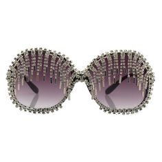 A-Morir eyewear Oversized crystal chain disco fringe sunglasses. a-morir sunglasses.