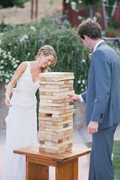 Alexandra Wallace | Playing a GIANT Jenga game at your wedding reception!! Now that is awesome!