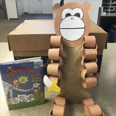 """Book: """"Monkey Me and the Golden Monkey"""" by Timothy Roland, Craft: Stuffed paper bag monkey with paper chain legs Zoo Preschool, Preschool Crafts, Paper Chains, Monkey, Fun Stuff, Legs, Books, Fun Things, Jumpsuit"""