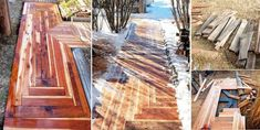 DIY Awesome Sidewalk with recycled lumber for only $50.00