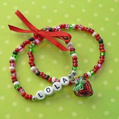 Colorful Personalized Name Bracelets YOU CHOOSE by stargazinglily, $7.25