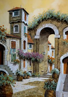 La Torre Painting by Guido Borelli