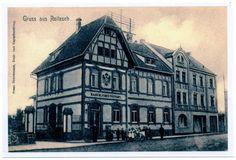 Alte Foto-AK Gruss aus Roitzsch - Kaiserl. Postamt (Neudruck als Postkarte)