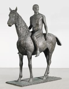 Dame Elisabeth Frink, R.A. 1930-1993 HORSE AND RIDER signed, dated 75 and numbered 2/3 bronze height: 244cm.; 96in. Conceived in 1974, the present work was cast in 1975 and is number 2 from an edition of 3, plus 1 artist's cast. Estimate 600,000 — 800,000 GBP LOT SOLD. 566,500 GBP (Hammer Price with Buyer's Premium)
