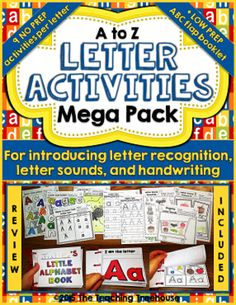 Letter Activities Mega Pack from The Teaching Treehouse on TeachersNotebook.com -  (306 pages)  - I hope that the letter activities in this pack will be of great use to you as you begin to introduce your students to the letters of the alphabet!