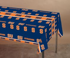 (12/case) Syracuse Univ Plastic Tablecover 54''x108'', All Over Print
