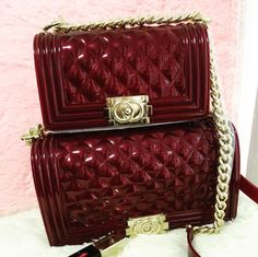 b4f6d25c9400 Jelly toyboy chance in wine red with gold hardware