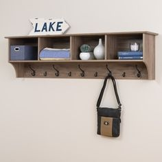 Shop for Prepac Grey Wood 60-inch Hanging Entryway Shelf. Get free shipping at Overstock.com - Your Online Furniture Outlet Store! Get 5% in rewards with Club O!