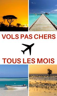 Vous recherchez des vols pas chers pour votre prochaine destination de vacances, de voyage, pour votre week-end ? Je vous actualise tous les mois tous mes bons plans de billets d'avion au départ des principales villes françaises ! #vols #avion #billetpascher #voyage