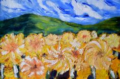 My Art.Wind Blooms.Acrylic On Paper.