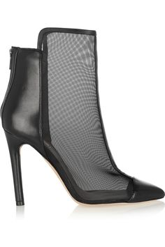 Reed Krakoff|Leather and mesh ankle boots