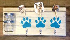 Large Dog Treat Holder | Dog Leash Holder | Dog Leash Hanger | Dog Collar Holder | Dog Treat | Dog Leash Hook | Mason Jar | Pet Decor | Pets