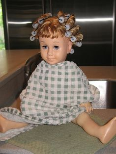 Restoring old dolls hair.....is this Chatty Kathy?