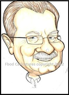 Caricature of Gary