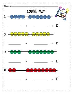 Worksheets Abacus Math Worksheets pinterest the worlds catalog of ideas this is a free two page math worksheet that students use with an abacus
