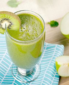 Green Applesauce Smoothie from our newsletter -- tastes like cinnamon applesauce!