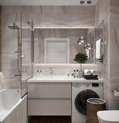 125 contemporary bathroom design ideas to enhance your home 9 Small Bathroom, Bathroom Interior, Bathroom Decor, Interior, Bathroom Makeover, Bathroom Design Small, Laundry In Bathroom, Contemporary Bathroom Designs, Bathroom Interior Design