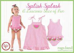 Our Funtasia Too Seersucker Checks Watermelon Ruffle Swimsuit & Sundress! Shop NOW at www.ragsland.com & follow Ragsland on Instagram!