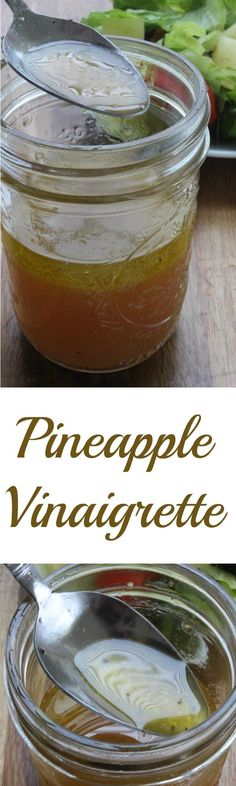 Homemade Pineapple Vinaigrette :: DIY healthy dressing recipe for your salad!
