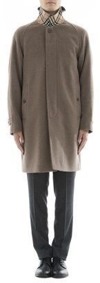 Burberry Men's Brown Cashmere Coat.