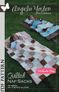 Quilted Nap Sacks Downloadable PDF Pattern Angela Yosten Patterns....  SO want to make these for the daycare kiddos!