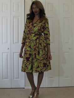Z'lia Wrap Dress available in a variety of prints by ankarastreets.com #AnkaraStreets #Ankara #AnkaraPrint #Batik #Ikat #BroadCloth #AfricanPrint #AfricanClothing #African #100%Cotton #Cotton #WaxPrint #Wax #WaxFabric #Urban #StreetWear #Casual #Formal #Modern #Handmade #Custom #Etsy #Designer #Unique