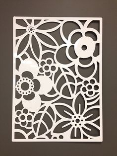 For the back patio wall. Abstract Flower Metal Wall or Garden Art Panel 24""