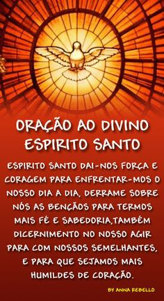 espirito-santo2[1] Mast Cell Activation Syndrome, Prayers For Hope, Jesus Prayer, Just Believe, Quotes About God, God Is Good, Holidays And Events, Holy Spirit, Feng Shui